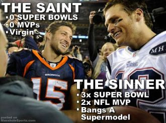 So why was Tebow the role model again?